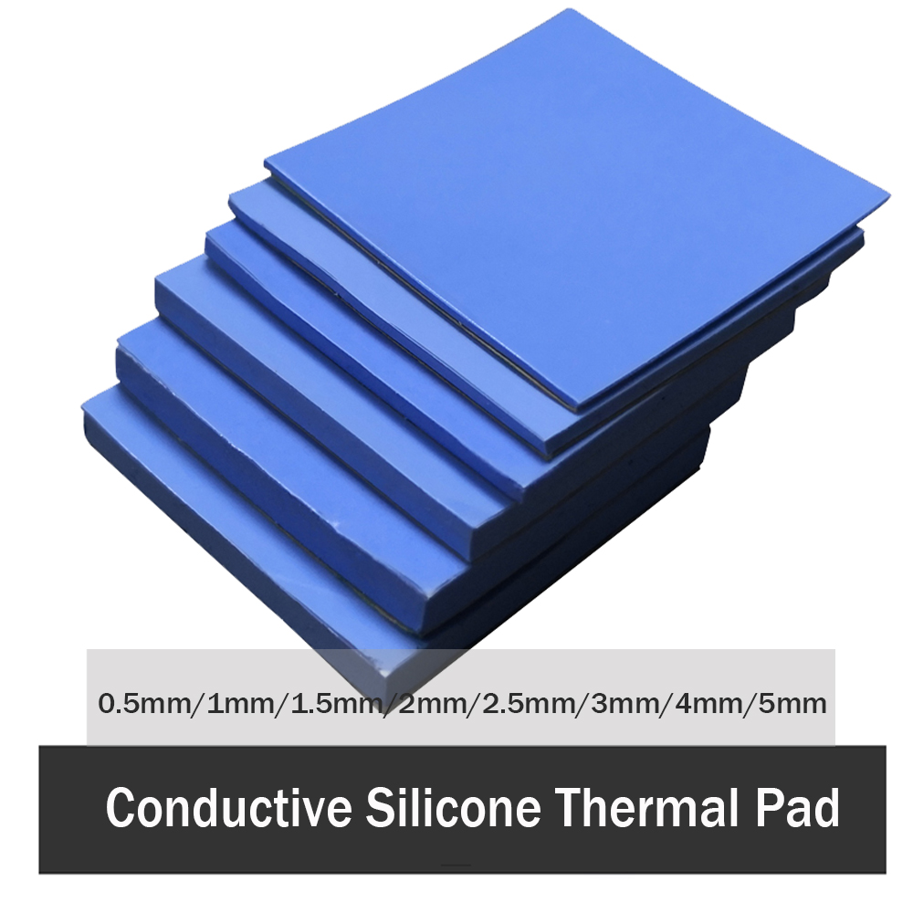 3Pcs 100x100mm Thermal Pad 0.5mm 1mm 1.5mm 2mm 3mm 4mm 5mm CPU Heatsink Pad Cooling Conductive Silicone Pad Thermal Pad