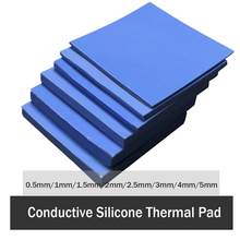 3шт 100х100мм термопрокладка 0,5 мм 1мм 1,5 мм 2мм 3мм 4мм 5мм процессора радиатор охлаждения проводящий силикон