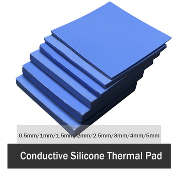3Pcs 100x100mm Thermal Pad 0.5mm 1mm 1.5mm 2mm 3mm 4mm 5mm CPU Heatsink Pad Cooling Conductive Silicone Pad Thermal Pad gpu cpu heatsink cooling thermal conductive silicone pad 100mmx100mmx0 5mm