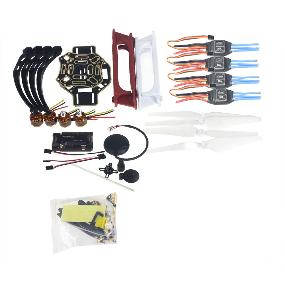 DIY RC Drone Quadrocopter 4-axis Aircraft Kit F450-V2 Frame GPS APM2.8 Flight Control No Battery No Transmitter diy multirotor drone flight control kit apm 2 8 flight controller m8n gps black shell for f450 f500 f550 quadcopter
