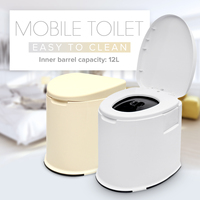 12L Capacity Portable Toilet Camp Toilet Camping Outdoor Tool Mobile Toilet Camping Caravan Travel Potty