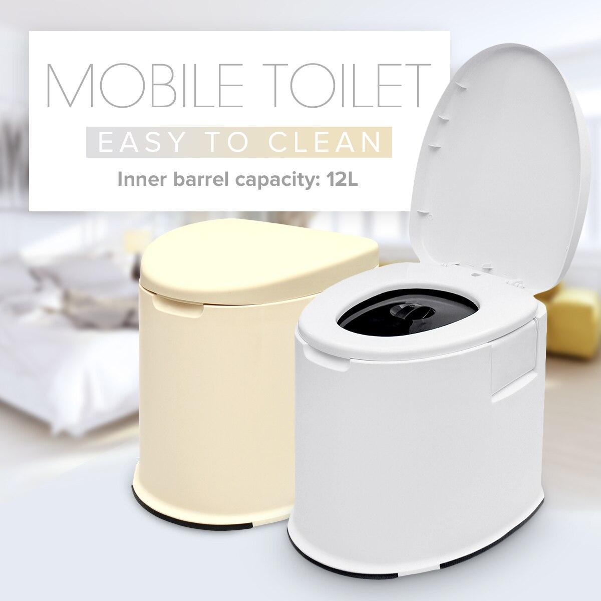 12L capacité Portable toilette Camp toilette Camping extérieur outil Mobile toilette Camping caravane voyage pot
