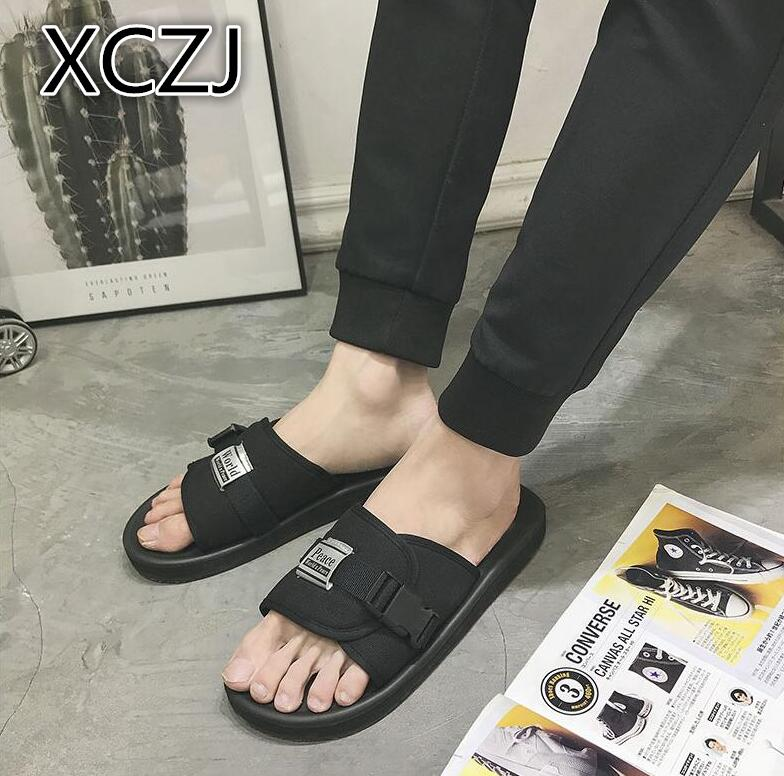 XCZJ 2018 new couple slippers male slippers in Vietnam non-slip wild comfortable personality simple tide slippers men