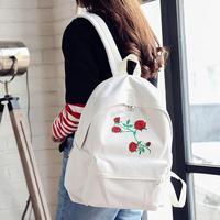 2018 stickerei Rose Frauen Rucksäcke Mode Leinwand Lady Rucksäcke Hohe Qualität Mädchen Satchel Travel Schultasche Mochila