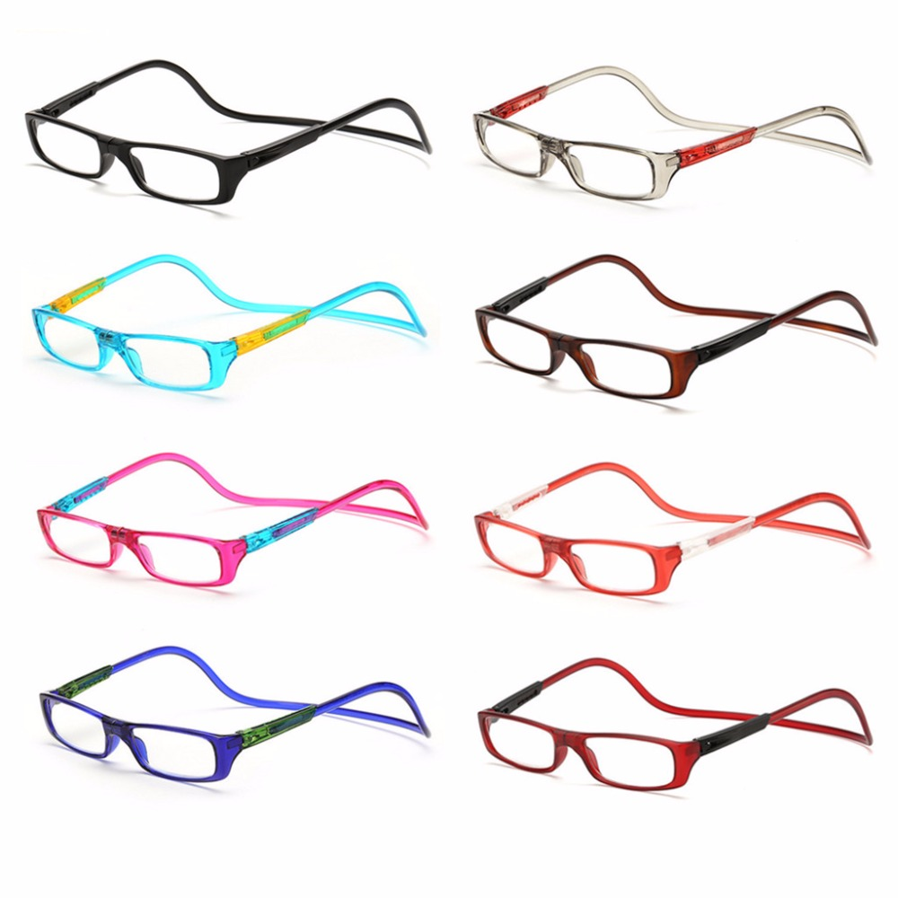 Upgraded Unisex Magnet Reading Glasses Men Women Colorful Adjustable Hanging Neck