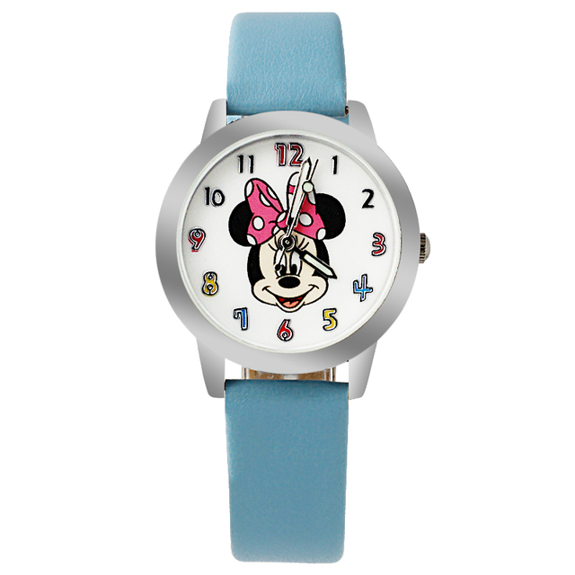 New 2019 fashion cool mickey cartoon watch for children girls Leather digital watches for kids boys Christmas gift wristwatch