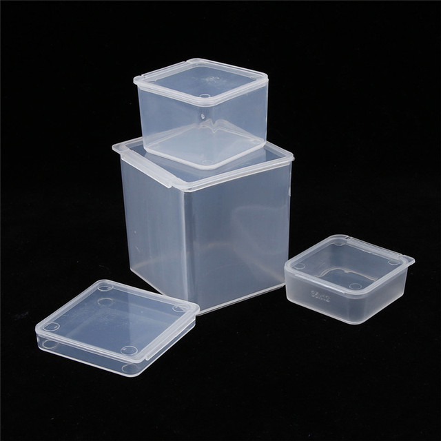 Linsbaywu Small Square Clear Plastic Jewelry Storage Bo Beads Crafts Case Containers Free Shipping