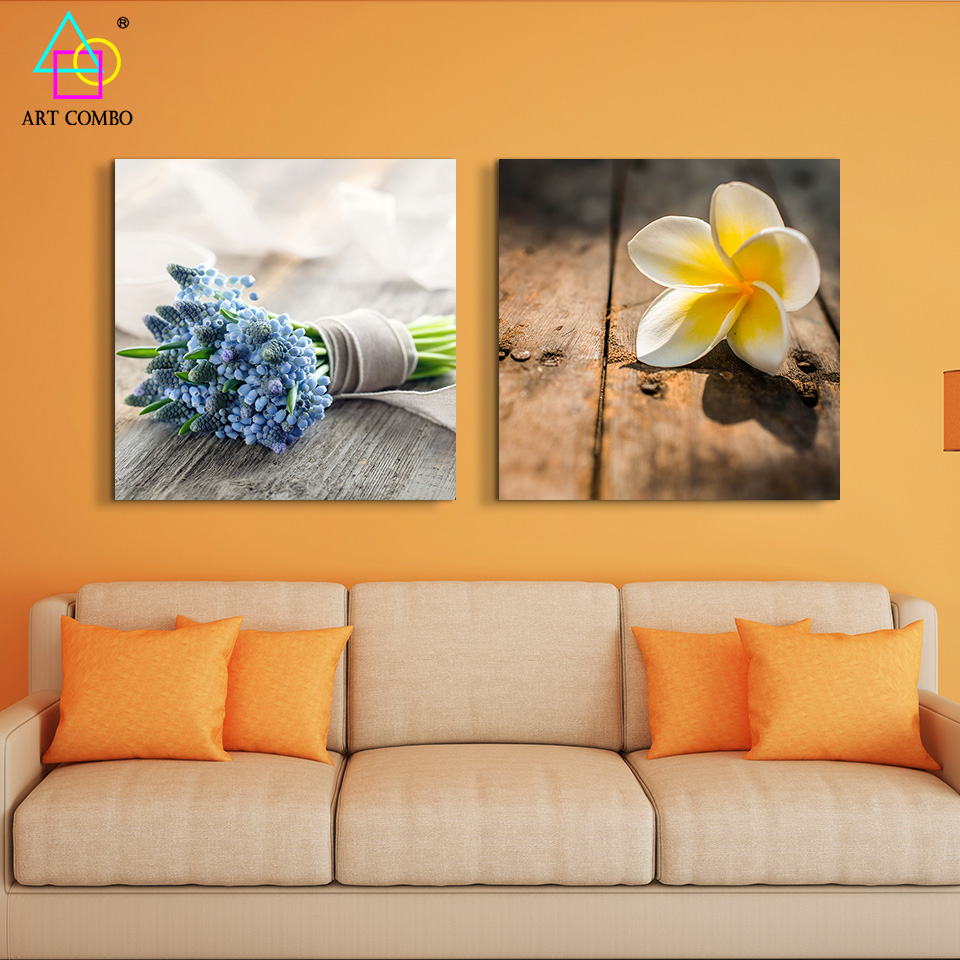Wall painting styles - Modern Charming Flower Painting On Canvas Cuadros Decoracion Wall Art Kids Room Painting House Home Decor Flower Posters Ws046