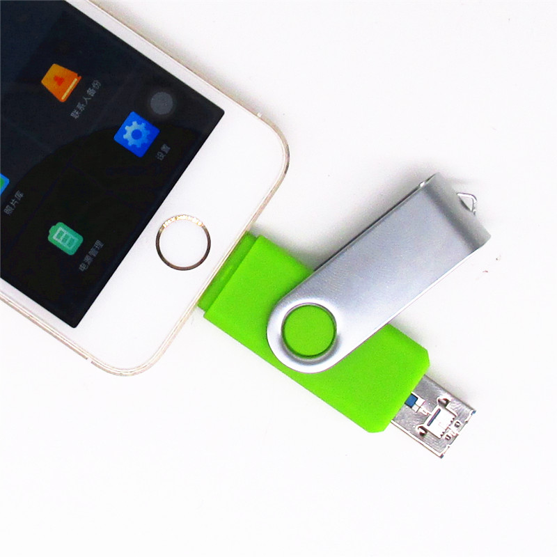 i-Easy Drive i-Flash iFlash Drive HD 16GB 32GB 64GB Flash Drive Penyimpanan Memori Untuk iPhone 7 7 Plus 6 5 5 S Petir ke Plastik