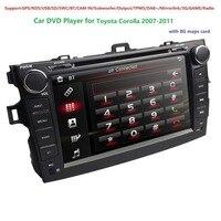 8 сенсорный экран стерео радио Автомобильный CD dvd плеер gps навигация для Toyota Corolla 2011 2007 MirrorLink DAB + DVBT DVR RDS SWC BT SD