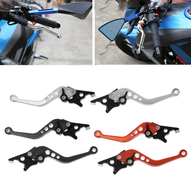 1 Pair Cnc Aluminum Alloy Motorcycle Double Disc Brake Lever Scooter Bike Modification Lever For Yamaha Honda Universal With Traditional Methods
