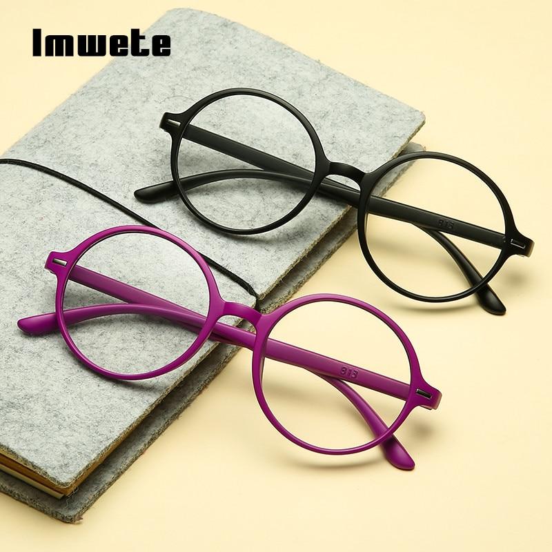 Imwete Classic Eyeglasses Men Reading Glasses Women Lightweight Presbyopic Retro Round Reader Glasses Diopter +1.0 +2.0 +3.0