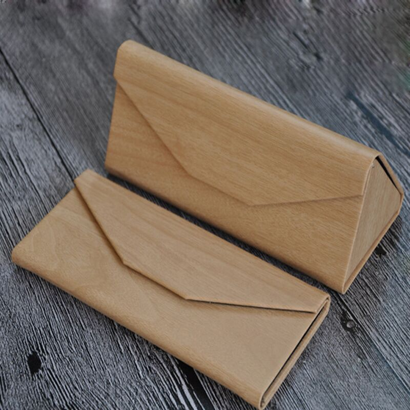 1pc Foldable Triangular Glasses Case 5 Colors Portable Leather Case for Glasses Eyeglass Sunglasses Cases