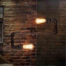 Ретро Loft Промышленный Кран Античная Эдисон Бра Света Водопровод Металла Сельский Лофт Настенный Светильник Бра