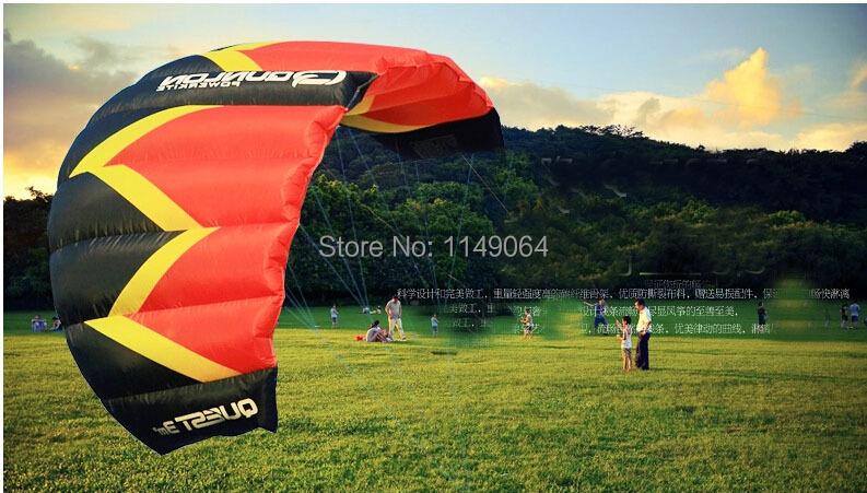 free shipping Quest Q3 dual line power kite surf parachute paraglider pipa outdoor fun sports kiteboard volante pro line kevlar ...