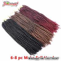 1 Paket Häkeln Flechtenhaar Faux loks Lockige Häkeln Haar 24 Wurzeln Synthetische Wellenförmige FauxLocks Afrikanische Flechten Frisur 9 Farben