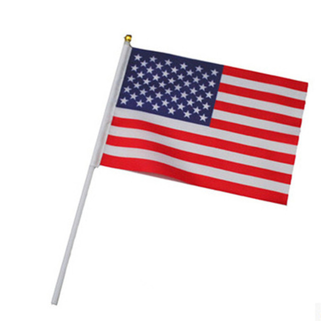 5pcs American Flag Hand Wave Flags 14 21cm Us Usa National Flags
