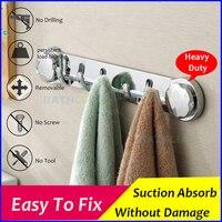 Multi Function Sucker Hook Chromed Suction Kitchen Towel Hook Bathroom Accessories Super Wall Hook Kitchen Holder