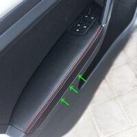 Lhd para vw golf 7 2014 2015 2016 4 pçs porta do carro braço painel de proteção couro microfibra capa guarnição Braços     -