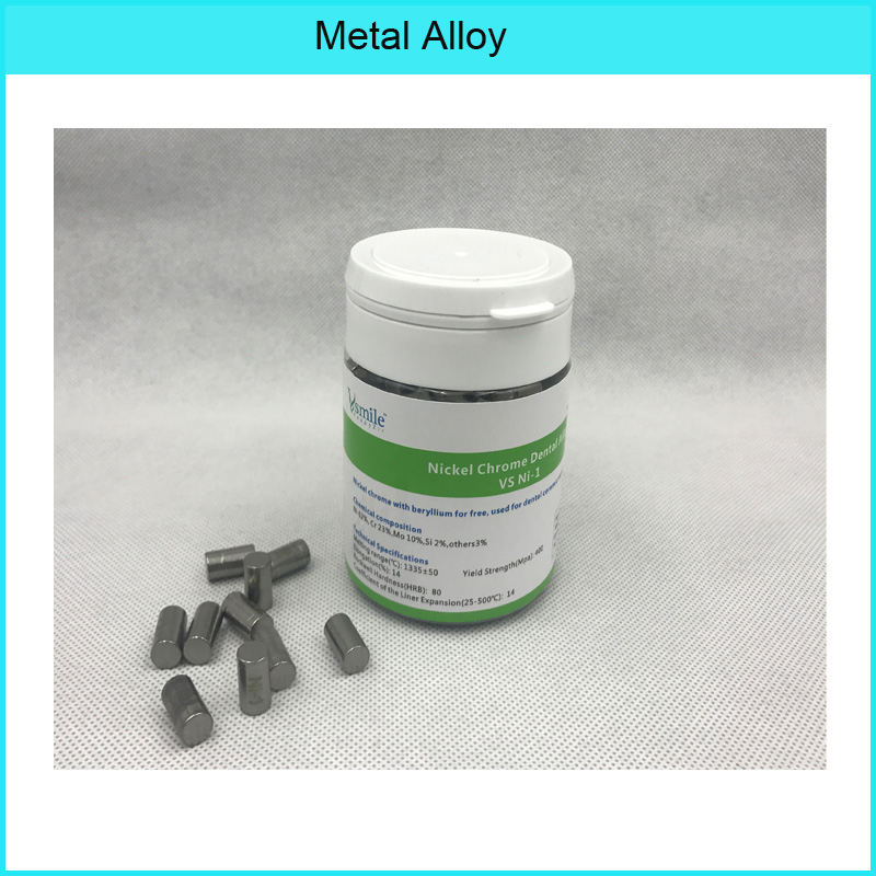 Alloy Materials Nickel Chrome Without Beryllium Alloy 1KG For Dental Lab Technician For Dental  Ceramic Restorations