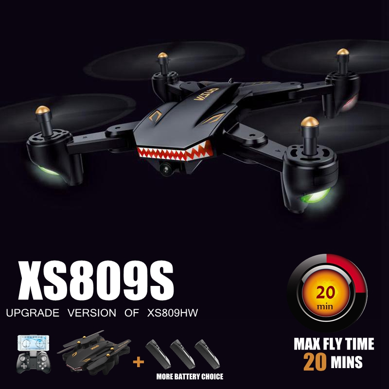 Rc Helicopter With Camera Hd 20mins Flying Time Camera Drones Professional Fpv Quadcopter Dron Xs809s Vs Visuo Xs809w Xs8090hw
