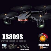 Вертолет с Камера Hd 20 минут время полета Камера беспилотники профессиональную Fpv Quadcopter Дрон Xs809s Vs Visuo Xs809w Xs8090hw