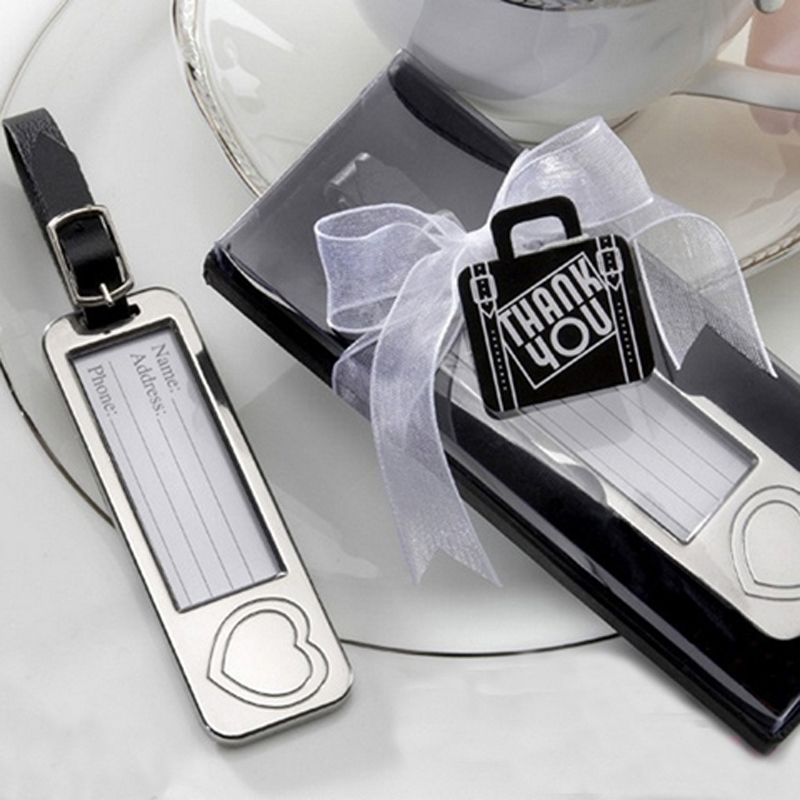 Free Shipping 100pcs/lot Back to School Favors Wedding favors Heart Luggage Tag as travel tag or travel label