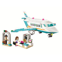 OLEKU 10545 236pcs Girls Friends Series Heart Lake City Private Airplane Building Blocks For Children Toys