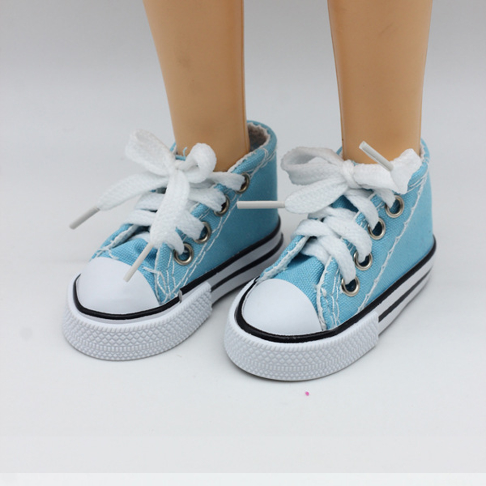 New Fashion Baby Born Doll Shoes Sport Style Shoes Canvas Shoes Fits 43 cm Zapf Dolls Baby Born and 16 American Girl 13 BJD 3