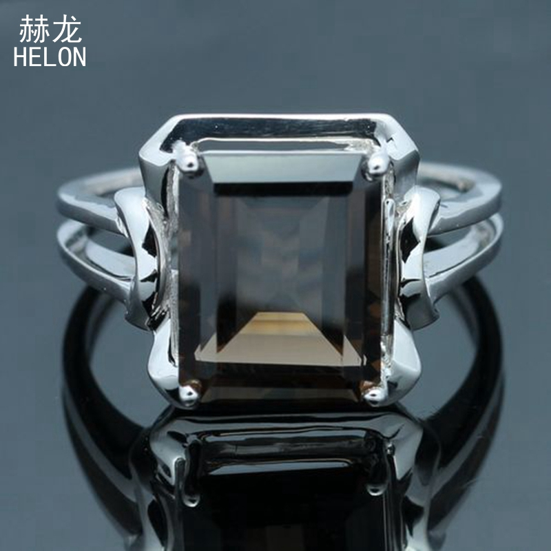 925 Sterling Silver 1.87ct Flawless 100% Genuine Smokey Quartz Vintage Style Engagement Ring Fine Jewelry Setting Cushion 10x8mm925 Sterling Silver 1.87ct Flawless 100% Genuine Smokey Quartz Vintage Style Engagement Ring Fine Jewelry Setting Cushion 10x8mm