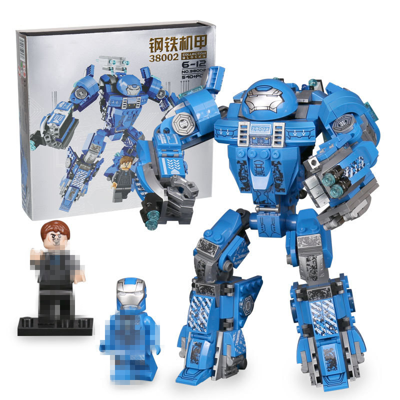 38002 540pcs Marvel Super Heroes Avengers Iron Man Hulk buster Mech Building Block Brick Toy