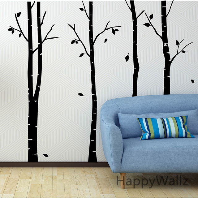 Birch Tree Wall Sticker Family Tree Wall Decals DIY Large Birch Tree  Wallpaper DIY Removable Wall