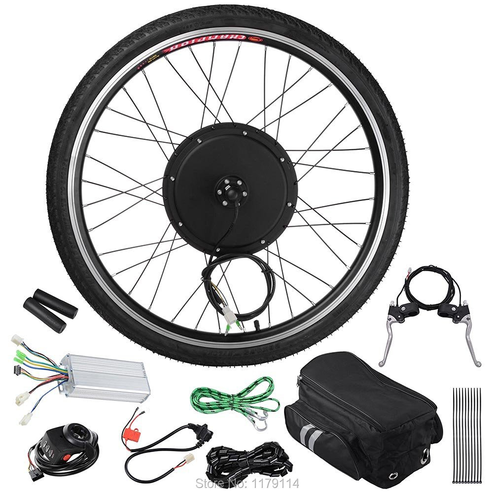 free shipping 48v1000w front hub motor wheel kit. Black Bedroom Furniture Sets. Home Design Ideas
