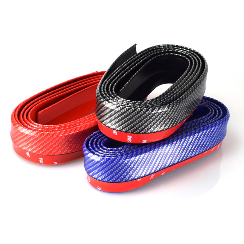 2.5M Auto Carbon Fiber Car-Styling Strips Mouldings DIY Wrap Protector Protcetion Front Bumper Scratches Guard Lip Rubber Clips bulk price 5 pieces lots pt093 logic board for canon l100 l150 formatter board original and new officejet printer parts
