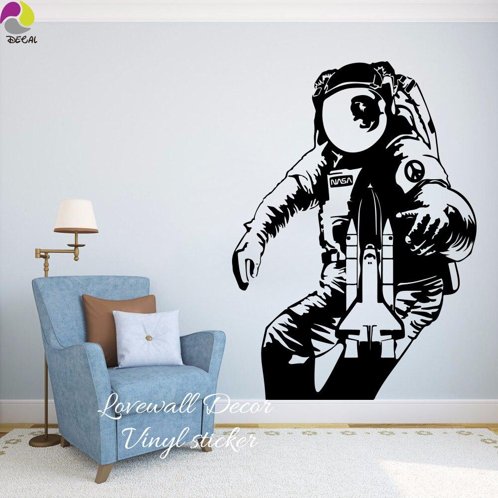 The Astronaut Wall Sticker Baby Nursery Kids Room Space