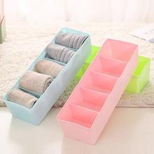 Plastic Desktop Organizer Universal Socks Storage Case Bra Ties Sorting Box Portable Underwear Organizer Home Accessories