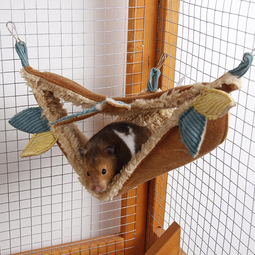 Pet Birds Hamster Hanging House Small Animals Squirrel Cotton Hammock Beds Double Layer Rat Squirrel Warm House