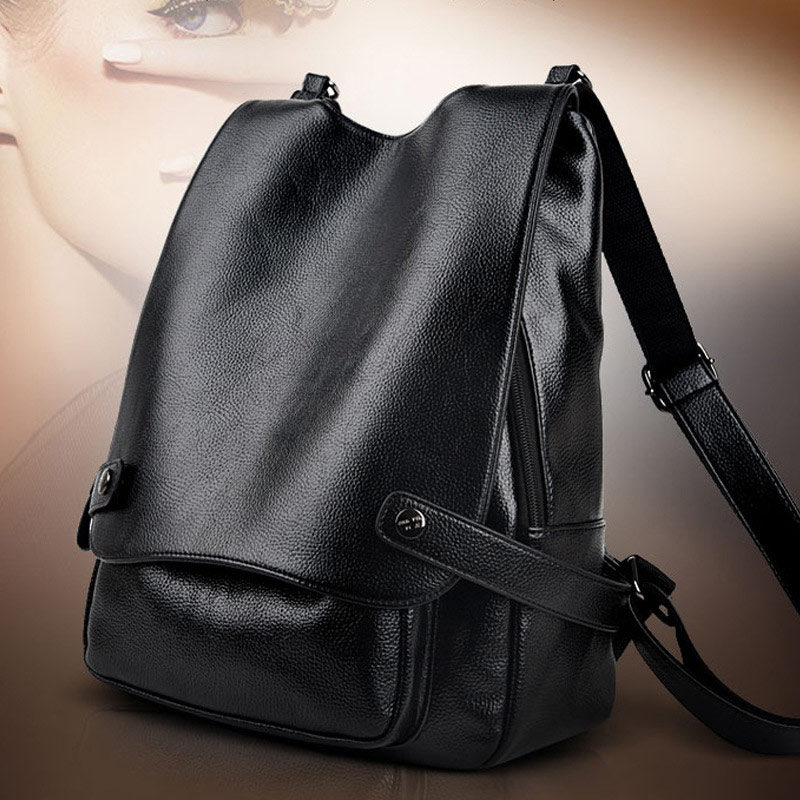 Aosbos Women Soft Genuine Leather Backpack Fashion Casual Shoulder Bag Backpacks High Capacity School Bags 2019 Solid Bag Pack