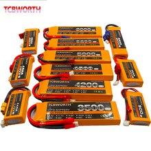 Batterie LiPo RC 2S 7,4 V, 1500, 2600, 3000, 4200, 5200, 6000 mAh, 30, 40, 60C pour avion, drone, hélicoptère, voiture radiocommandés