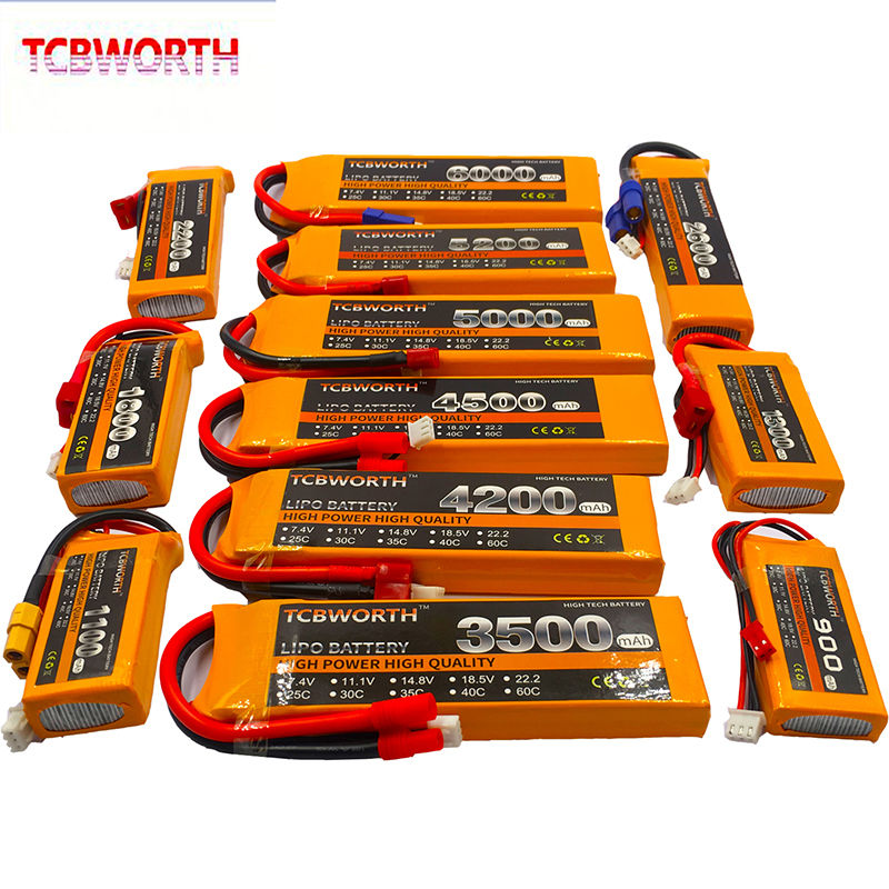 RC LiPo <font><b>Battery</b></font> 2S <font><b>7.4V</b></font> 1500mAh <font><b>2600mAh</b></font> 3000mAh 4200mAh 5200mAh 6000mAh 30C 40C 60C For RC Airplane Drone Helicopter Car 2S LiPo image
