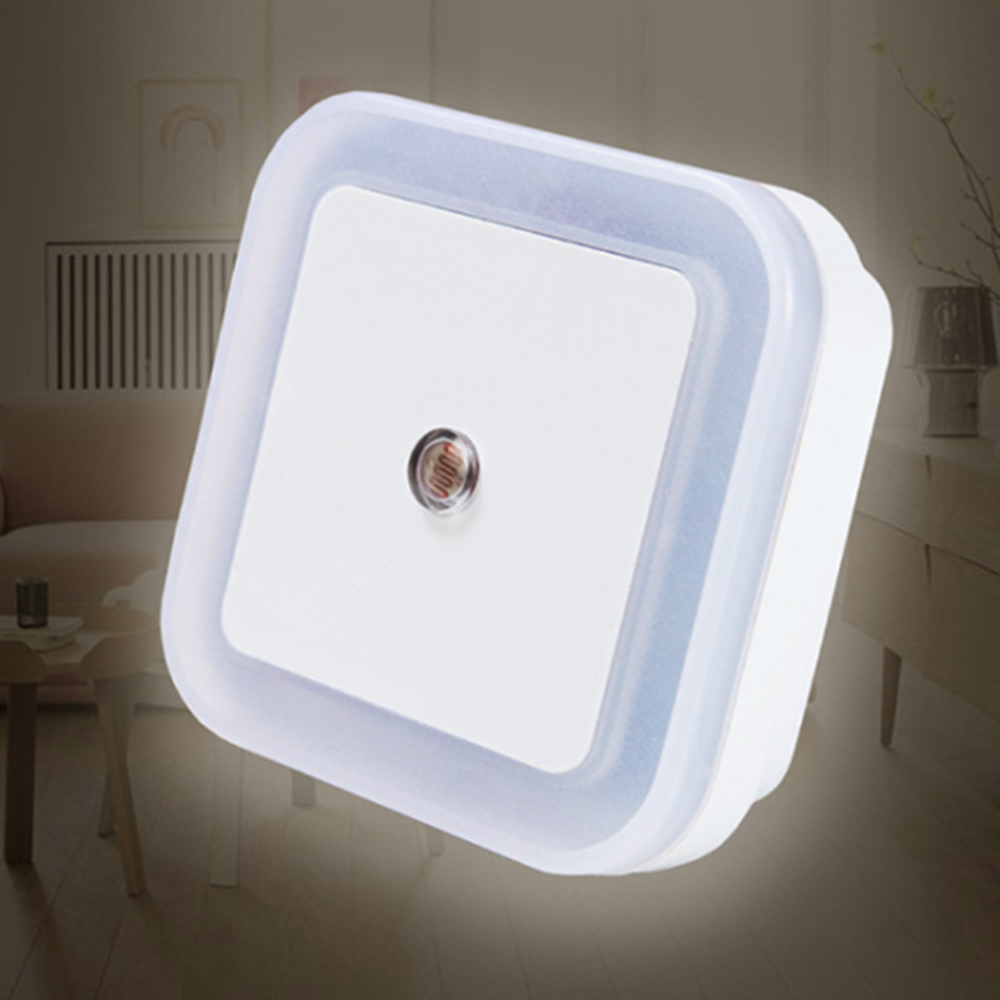 AC110-220V LED Night Light 0.5W Light Sensor Lights EU US Plug Novelty Square Lamp For Baby Gift Romantic Colorful Light JQ