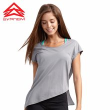 Syprem Mesh Sports T-shirt Woman Short Sleeve Yoga Tops Loose Sports Tops Fitness Shirt Women Quick Dry Running Shirts,1FD0006(China)