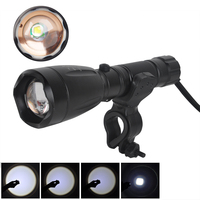High Quality 2500lm XML T6 Zoomable LED Flashlight Torch For Household Lamp With Holder Mount Wall