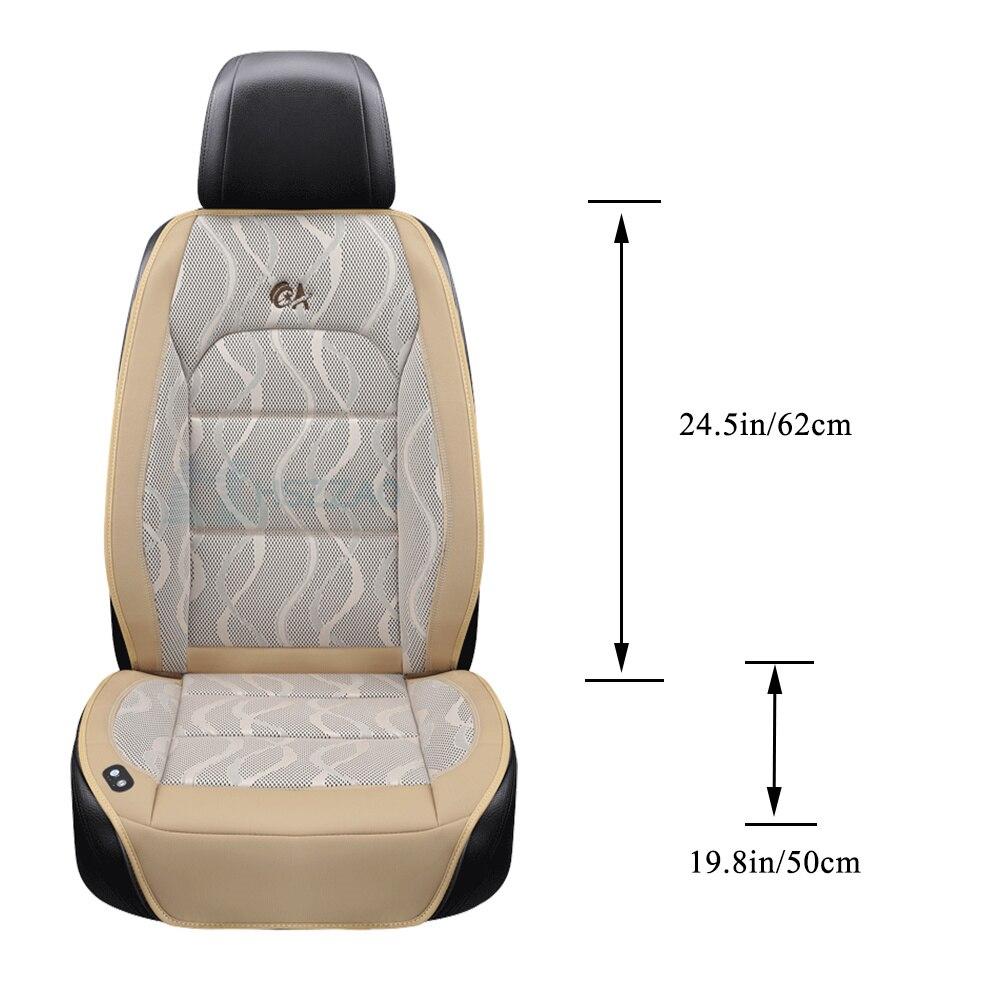 Роскошная подушка для автомобильного сиденья 12 В, воздушная подушка с вентилятором, массажные чехлы для сидений автомобиля, охлаждающий жилет, прохладная летняя вентиляционная подушка - 2