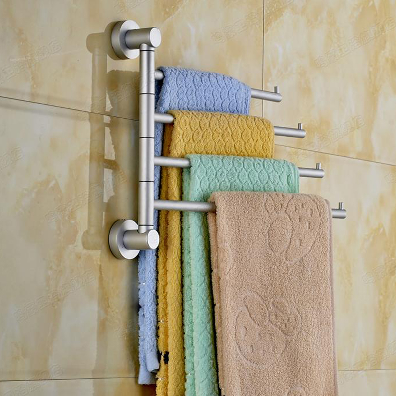 High quality bathroom kitchen aluminum towel holder 4 for Bathroom accessories towel racks