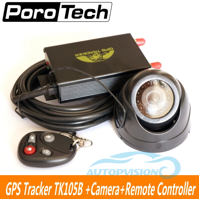 GPS Tracker TK105B Vehicle gps gsm gprs tracker car anti-theft system Burglar Alarm system with remote controller+camera+cable new arrival gsm tracker gps collar car gps tracker positioning motorcycle theft anti lost satellite locator vt310