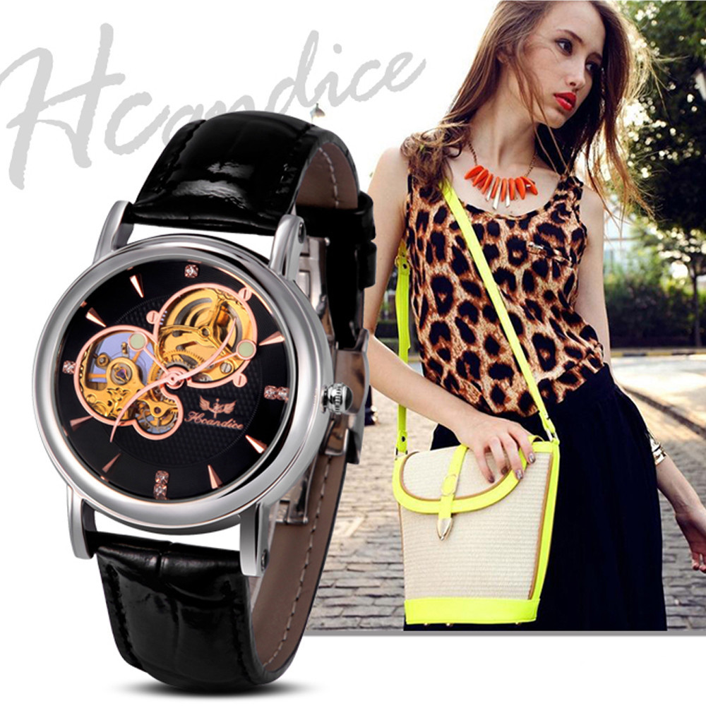 Women Mechanical Watch Business Luxury Leather Band Watch Skeleton Wristwatch Men Brand watch Relogio feminino Feida meibo brand fashion women hollow flower wristwatch luxury leather strap quartz watch relogio feminino drop shipping gift 2012