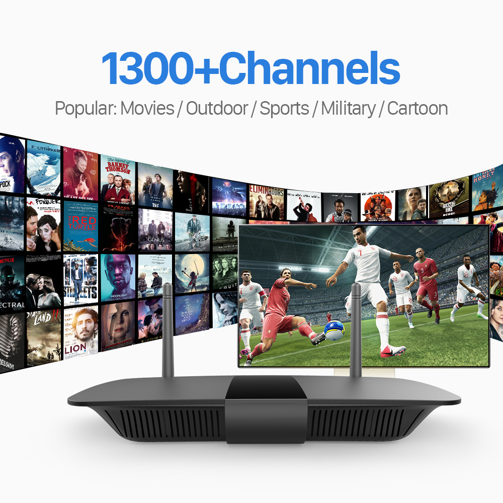 ФОТО Arabic Android 4.4 Smart TV Box HDMI Wifi H.265 Set Top Box with 1Year Free IPTV Channels Arabic Europe French Germany TV Box