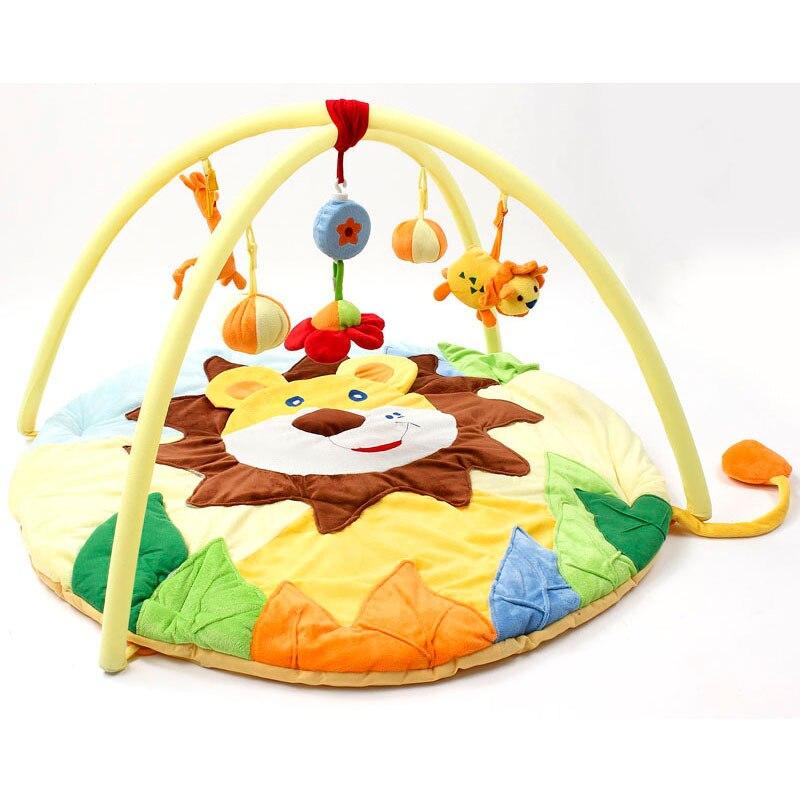 Bébé doux jeu de tapis de jeu dessin animé Animal Lion éducatif ramper tapis jouer Gym enfants bébé jouets jouer tapis enfants couverture 0-12 mois