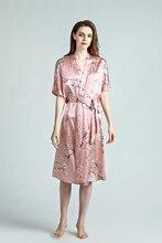 SEDBOJ Tailor Made  Plus Size Women Pajamas Pure Silk Sleepwear Robes Pink Color Pyjamas